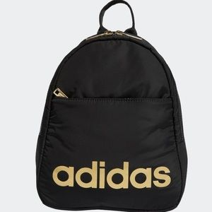 Adidas Black and Gold Mini Backpack